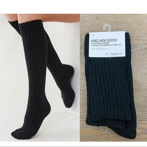 Sweater Knitted Pattern Knee High Socks